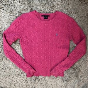 Ralph Lauren Sport Lambswool Hot Pink Sweater